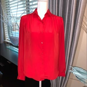 Nordstrom red blouse
